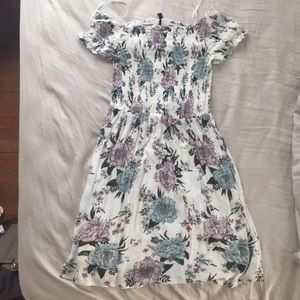 Scrunch floral dress